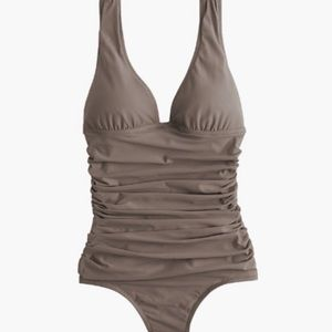 J. Crew D-cup Ruched Femme One-piece Swimsuit
